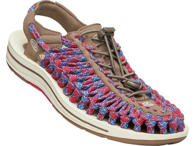 Keen Uneek Flat Sandals Dame walnut/crimson